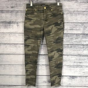 EXPRESS-Stretch Ankle Camo Leggings Mid Rise